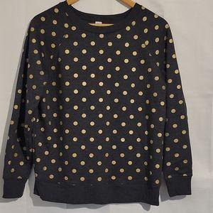 2/$20 Old Navy dark grey polka dot pullover